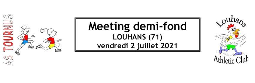 Meeting demi fond Louhans 2021